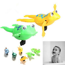 Shower Kids Bath Toys Plastic Baby Wind Up Clockwork Swimming Cartoon Toy GT