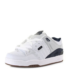 Mens Globe Fusion White Navy Grey Chunky Technical Skate Shoes Trainers Shu Size