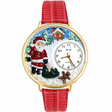 Christmas Santa Claus Watch w/ Personalized Miniature Gifts