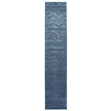 Network Rugs NEW Modern Chevron Design Blue/Grey Rug