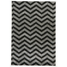 Network Rugs NEW Modern Chevron Design Charcoal Rug