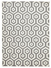 NEW Urban Hive Flat Weave Wool Rug Grey