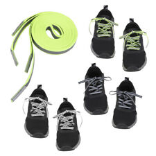 1.2m FLAT REFLECTIVE FALT SAFETY SHOE LACES SHOE STRINGS GLOW IN THE DARK