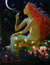 Home Decor HD Prints oil painting on canvas art for living room Mermaid NVN41