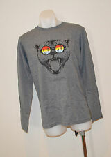 Quiksilver Boys Long Sleeve T Shirt- GREY -SIZE - 8,10,12 ,14 & 16  Years- NEW