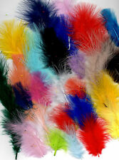 50 FLUFFY MARABOU FEATHERS IN A SELECTION OF COLOURS