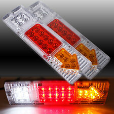 2 X 12V 19 LED REAR TAIL STOP INDICATOR LIGHTS LAMP TRUCK TRAILER LORRY CARAVAN