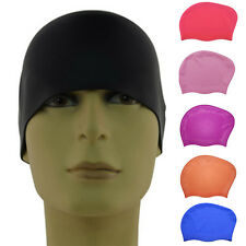 New Women Silicone Swim Cap Flexible Durable Elasticity Waterproof Swimming Hat