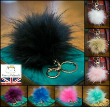 Elegant Very Soft Fluffy Faux Fur Ball Key Chain PomPom Handbag Car Key Ring