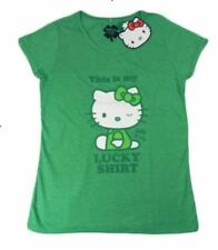 "Hello Kitty""This is my Lucky Shirt"" Sizes XXS-XS-S RRP $19.99Brand New With Tags"
