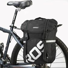 Waterproof 15L Bike Bicycle Cycling Canvas Racks Pannier Rear Seat Trunk Bag