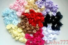 Lot 10 ou 20pcs Applique mini Rose Satin.Scrapbooking,Couture, Embellissements.