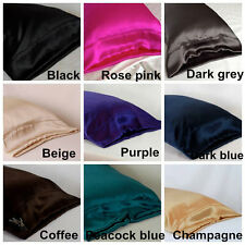 100% Silk Housewife Pillowcase Mulberry Pillowcase Cover Fit Standard Queen King