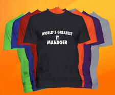 World's Greatest IT MANAGER T-Shirt  Career Job Occupation Tee