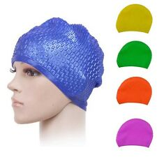Waterproof Silicone Unisex Adult Silicone Stretch Swimming Cap Durable Swim Hat