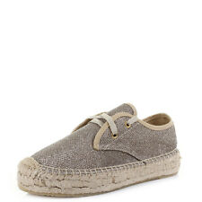 Womens Replay Clen Gold Metallic Fashion Lace Up Espadrilles Shoes Shu Size
