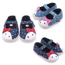 Cute Pot Baby Mary Jane Shoes Toddler Girls Soft Sole Crib Shoes 0-12M Beautiful