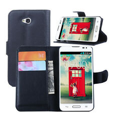 Flip Magnetic Card Wallet PU Leather Case Stand Cover Skin For LG Optimus L70