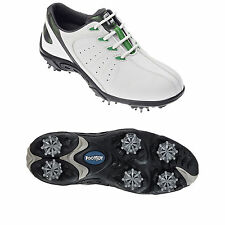 FOOTJOY JUNIOR GOLF SHOES -NEW BOYS WATERPROOF WHITE LEATHER KIDS FJ SPORTS 2015