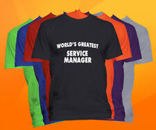 World's Greatest SERVICE MANAGER T-Shirt  Career Job Occupation TEE