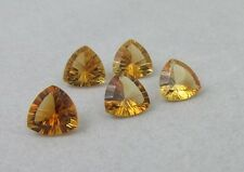 Natural Citrine Concav Cut Trillion 6mm - 8mm Calibrated Size Loose Gemstone