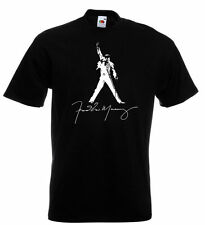 Freddie Mercury Queen Autograph T Shirt  Brian May Roger Taylor John Deacon
