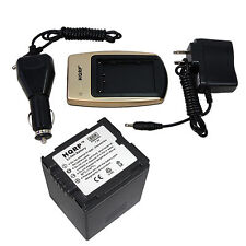 Battery and Battery Charger for Hitachi DZ-HS MV BD BX GX Series Camcorder