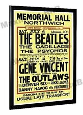 The Beatles Gene Vincent Concert Poster Northwich 1963