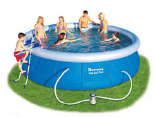 Bestway Fast Set Swimming Pool | 8ft, 10ft, 12ft, 15ft and 18ft + 2 FREE GIFTS