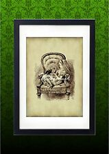 Alice in Wonderland Vintage Art Print Nursery Wall Art Print Alice in Chair