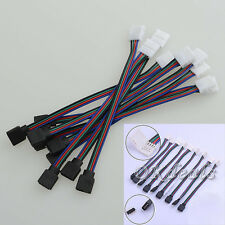4 PIN Female Male RGB Connectors Wire Cable For 3528 5050 SMD LED Strip Lights