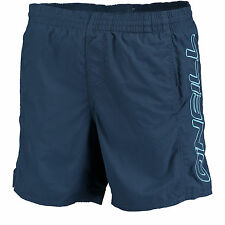 ONeill Split Elasticated Mid Length Board Shorts in Carbon Blue