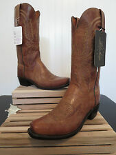 "Lucchese 1883 Men's ""Crayton"" Tan Mad Dog Goat Leather Cowboy Boot N1547 7/4"