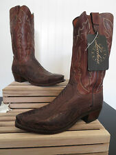 "Lucchese 1883 Men's ""Driscoll"" Burnished Ostrich + Ranch Hand Cowboy Boot N1119"
