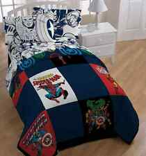 Marvel Heroes Comic Heroes Twin/Full Reversible Comforter With Twin&Full Sheets