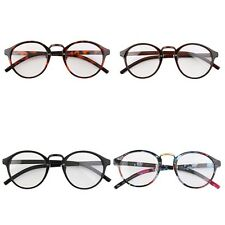 Retro Geek Vintage Nerd Large Frame Fashion Round Clear Lens Glasses QT