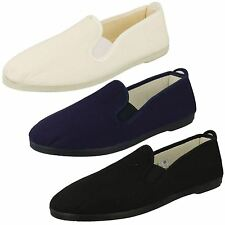 Mens Canvas Slip On Canvas Plimsoll Shoes A1063