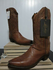 "Lucchese 1883 Women's ""Savannah"" Tan Burnished Mad Dog Goat Cowboy Boot N4540"