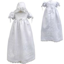 Baby Infant Toddler Girl Christening Baptism Dress Gown w/ Hat 0-4 (0-30 Months)