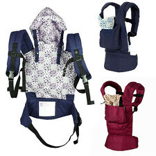 Adjustable Infant Baby Newborn Carrier Sling Wrap Rider Backpack Front/Back Pack