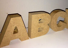 Wooden Freestanding Alphabet letters *Chunky Wood MDF wooden heart name letters*