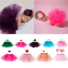 Cute Newborn Toddler Baby Girl Tutu Skirt + Headband Photo Prop Costume Outfit