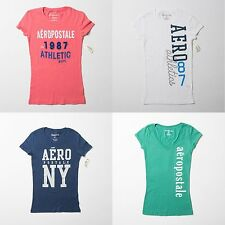 NWT Aeropostale AERO Cotton Graphic Logo T Shirt Short Sleeve Tee Top Tank  XS S