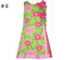 BONNIE JEAN Girl's Spring Easter Summer Flower Floral Dot Bow Dress 4 5 6 6X