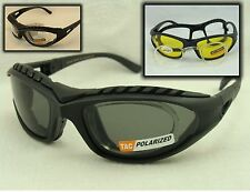2 Pair Special Padded Glasses Rx Adaptable Polarized, Yellow or Clear Lenses