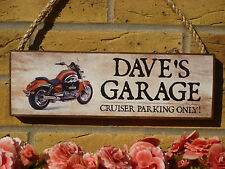 PERSONALISED MOTORBIKE SIGN GIFTS FOR BIKERS GARAGE SIGN PARKING SIGN OWN NAME