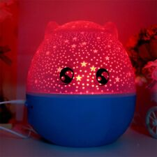 Star Master Rotating Projector Lamp Star Master LED Night Light With Speaker QT