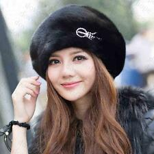 Genuine Winter Women Real New Mink Fur Hat Cap Headgear Beanie Beret   QS 0024