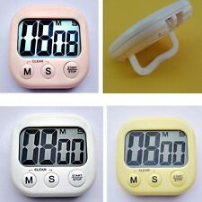 Mini Cooking Timer LCD Digital Kitchen Timer Countdown Multicolor Alarm Clock