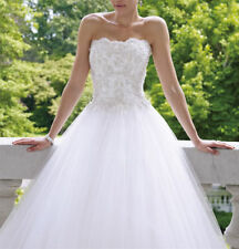New White/Ivory Ball Bridal Gown Wedding Dress Custom Size 4 6 8 10 12 14 16 18+